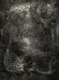 Silver Forest by Yaroslav Gerzhedovich, via Flickr, mixed media, 2011