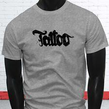 Тату татуировки магазин образа жизни гордость постоянный мужской серый футболка
