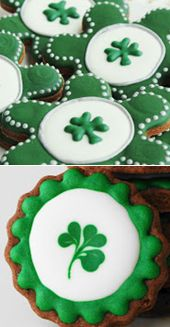 St. Patrick's Day cookies by LilaLola. pinned by www.cookiecuttercompany.com