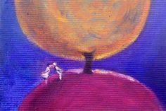 Midnight dream - Original ACEO painting - signed by the author - Art Cards Editions&Originals - Italian canvas - acrylic paint - 2.5 x 3.5''