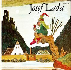 Josef Lada, Vodník Rusalka, Book Illustration, Four Seasons, Czech Republic, Painters, Illustrators, Watercolour, Ink, Retro