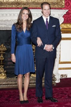 Kate Middleton has amazing style and we've been taking a look at her fashion evolution from the very beginning, to her engagement to Prince William, and onto the birth of their son Prince George. Princesa Kate, Princesa Real, Princesse Kate Middleton, Kate Middleton Prince William, Prince William And Kate, William Kate, Kate Middleton Engagement Dress, Engagement Dresses, Royal Engagement