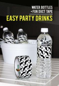 DIY: Water Bottle Party Labels