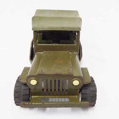 Vintage Toys - Vintage Tonka pressed steel Army Jeep for sale in Cape Town… Cape Town, Vintage Toys, Jeep, Army, Bags, Gi Joe, Handbags, Old Fashioned Toys, Military