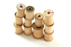 #Vintage #wood #spools // Set of 11 // #repurpose and #upcycle #sewing #brigteam @Christine Shook $7.00