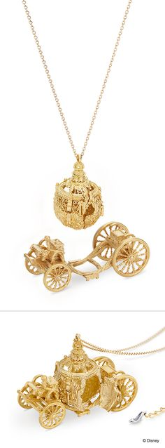 "【Cinderella - the movie ""Cinderella"" (pumpkin carriage-large) -】 Necklace with the image of a ""pumpkin carriage"" that appeared in the movie ""Cinderella"". As of Cinderella, as a dream come true.../ 【Cinderella-"