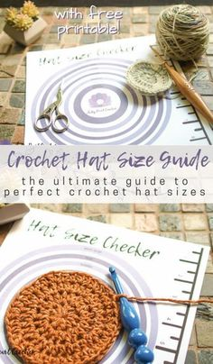 New Free Crochet headband size chart Style Crochet Hat Sizes: the Flat Circle Method – Crochet and Knitting Patterns Crochet Crafts, Crochet Yarn, Crochet Projects, Free Crochet, Crochet Stitches, Crotchet, Crocheted Hats, Crochet Adult Hat, Knit Hats