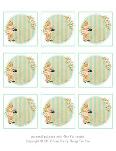 Free Vintage Tags 2.5 x 2.5 in by FPTFY page by Free Pretty Things For You!, via Flickr