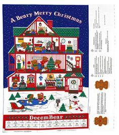 Holiday Inspirations Christmas Fabric-Beary Merry Christmas Advent Panel