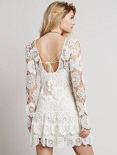 Outstanding Crochet: Night Out crochet-like Lace Dress from Free People.