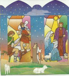 Imagen del Nacimiento del Niño Dios en farol de papel