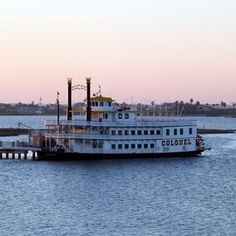 Colonel Paddlewheel Boat | 1 Hope Blvd || Enjoy an hour-long tour of Offats Bayou or plan your visit around one of their Dinner Cruises!  #weekendgetaway #Galveston #datenight