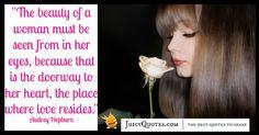 Quote About Beauty - Audrey Hepburn