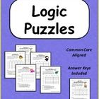 Logic Puzzles - Set of 5 Brain Teaser Puzzles with Grids - Common Core Aligned Teaching Tips, Teaching Math, Logic Problems, Brain Teaser Puzzles, Math Teacher, School Teacher, Logic Puzzles, Critical Thinking Skills, 5th Grade Math