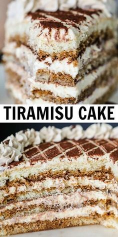 Tiramisu cake is a classic Italian cake that's made with coffee soaked sponge cake and layered between a sweet mascarpone cream. The BEST homeade tiramisu cake recipe everyone will love! recipe for two Tiramisu Cake Dessert Party, Oreo Dessert, Fancy Desserts, Just Desserts, Delicious Desserts, Easy Italian Desserts, Homeade Desserts, Cupcakes, Cupcake Cakes
