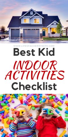 Indoor activities to do with kids when stuck at home.Inside game checklist to play with children. Indoor Family Activities, Fun Rainy Day Activities, Indoor Activities For Kids, Learning Activities, Rhyming Games, Inside Games, Family Board Games, Business For Kids, Children