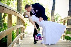 Beautiful bride in a Venus Bridal gown