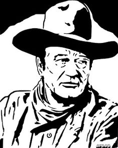 Cowboy Silhouette Patterns | Free Scroll Saw Patterns by Arpop: John Wayne Scroll Saw Pattern