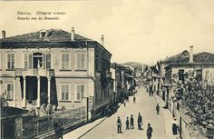 Sirok Sokak (Wide Street) - the main street in Bitola - Serbian postcard issued during the Balkan Wars 1912-1913