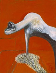 Francis Bacon. Pain, isolation, anger, self-disgust, despair. E. expressive painting very abstract