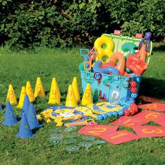 Maths Outdoor 'Grab & Go' Kit - Foundation. Nursery World Award 2008. Children will love the fact that maths can be used in a context outside of the classroom.
