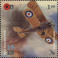 Stamp: Great air war (New Zealand) (1918 Back From The Brink) WAD:NZ030.18