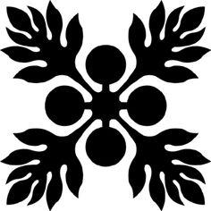 Hawaiian Quilt Tile 11 | Hawaiian Quilting | Pinterest | Hawaiian ... : hawaiian quilting patterns - Adamdwight.com