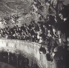 """fantomas-en-cavale: """" Herbert List, Le théâtre La Fenice dans le film Senso (dir. Visconti), Venise, 1954. """""""