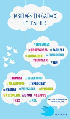 19 hashtags educativos para Twitter  http://www.cristic.com/19-hashtags-educativos-para-twitter/