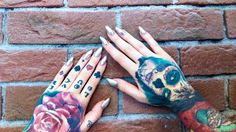 Hand tattoos , tattoos, sugar school , rose tattoo
