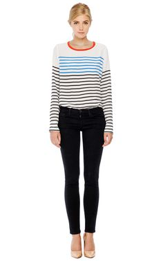 Liam Tee With North Sails Stripe Printed by Equipment Now Available on Moda Operandi