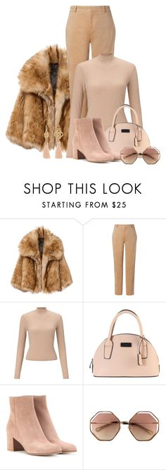 """Beige All in One"" by pure-vnom ❤ liked on Polyvore featuring Avery, Miss Selfridge and Gianvito Rossi"