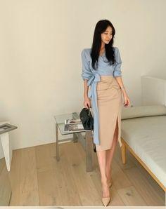 Waist Skirt, High Waisted Skirt, Yu Jin, Retro Outfits, Skirt Fashion, Korean, Skirts, Anime, Dresses