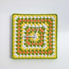 granny square clock