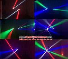 Tia LED đèn sân khấu mini Spider Mini 8 mắt
