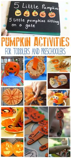 fun pumpkin activities for toddlers and preschoolers