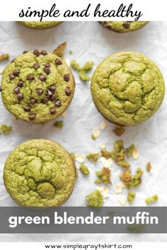 Blender muffins are my go to trick for getting healthy ingredients into my families diet. These green machine blender muffins, hide spinach in a delicious muffin base. Chocolate chips add a little extra treat to an otherwise super healthy snack Healthy Breakfast Muffins, Healthy Muffin Recipes, Blender Recipes, Healthy Smoothies, Baby Food Recipes, Smoothie Recipes, Gourmet Recipes, Healthy Snacks, Breakfast Recipes