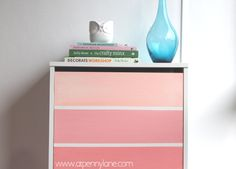 Ikea Ombre Painted Shoe Holder | DIY Project Tutorial