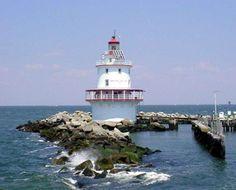 Brandywine Shoal Lighthouse, New Jersey at Lighthousefriends.com