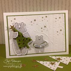 Stampin Up Trier Bitburg, Joy-Stampin - Stampin Up - Joy . Stamped Christmas Cards, Christmas Cards To Make, Xmas Cards, Handmade Christmas, Holiday Cards, Christmas 2016, Card Making Inspiration, Making Ideas, Winter Karten