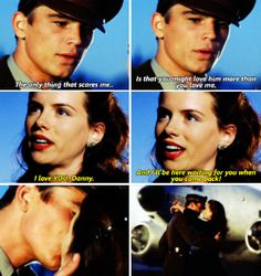Danny says goodbye to Evelyn -Pearl Harbor Tv Show Quotes, Film Quotes, Favorite Movie Quotes, Romantic Movie Quotes, Pearl Harbour Movie, Pearl Harbor Quotes, Love Movie, Movie Tv, Josh Hartnett Pearl Harbor