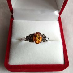 madeira citrine and brazilian smoky quartz ladies ring from Dynasty Jewelry for $200 on Square Market