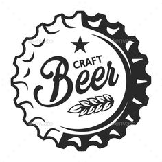 Buy Vintage Craft Beer Emblem by imogi on GraphicRiver. Vintage craft beer logo with wheat ear and inscription on bottle cap isolated vector illustration Icon Set, Beer Logo Design, Display Font, Beer Images, Craft Bier, Vintage Illustration, Beer Club, Bar Logo, Beer Art