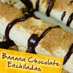 Hispanic Diabetes Recipes: Banana Chocolate Enchiladas
