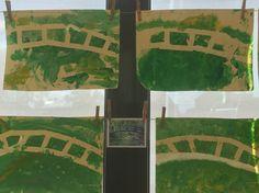 We maken het bruggetje van Monet #peuters Monet, Valance Curtains, Home Decor, Decoration Home, Room Decor, Home Interior Design, Valence Curtains, Home Decoration, Interior Design