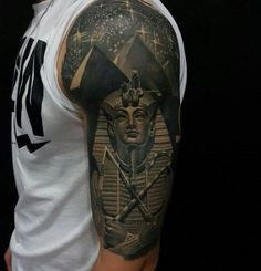 What does king tut tattoo mean? We have king tut tattoo ideas, designs, symbolism and we explain the meaning behind the tattoo. Trendy Tattoos, Sexy Tattoos, Body Art Tattoos, Tattoos For Guys, Cool Tattoos, Fake Tattoos, Flower Tattoos, Tattoo Drawings, Tattoos Pics