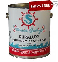 Aluma Hawk Aluminum Boat Paint by Sea Hawk Paints Aluminum Boat Paint, Aluminum Fishing Boats, Campervan Interior, Boat Painting, Coffee Cans, Camper Van, Green, Interiors, Sea