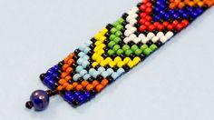 African inspired Bead Loom Bracelet tutorial