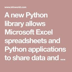Excel gets Python programming power, thanks to Xlwings library
