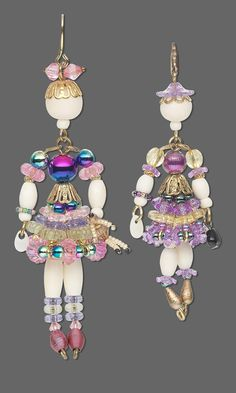 Jewelry Design - Doll Charms with Acrylic Beads, Bone Beads and Party Beads - Fire Mountain Gems and Beads